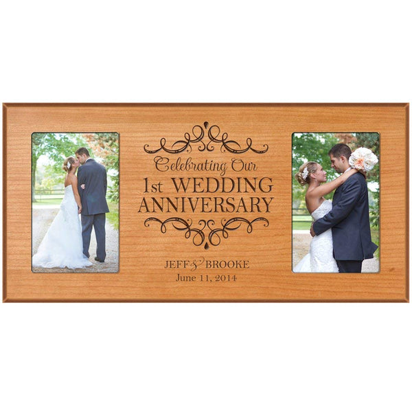 1st Wedding Anniversary 4x6 Picture Frame – Personalized