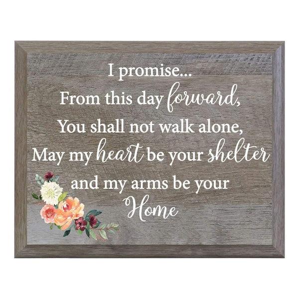 Barn Wood Wedding Party Sign Plaque - I Promise
