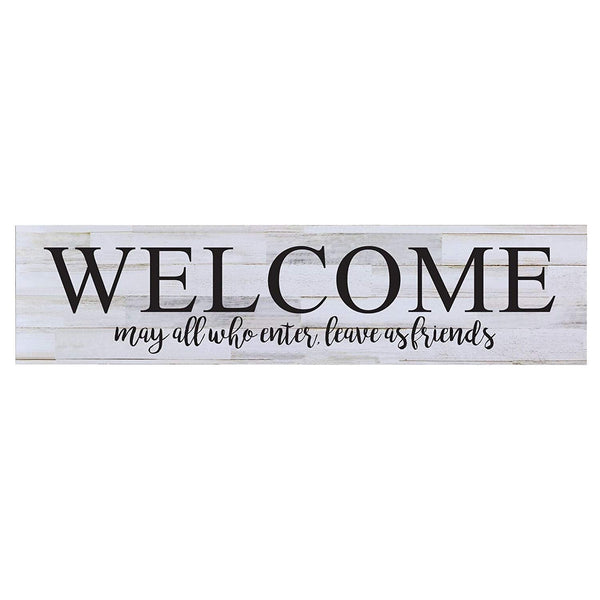 Welcome May All who Enter wall art Sign