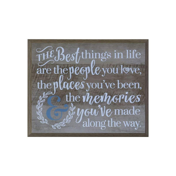 12 x 15 Wall Plaque Decor - The Best Things In Life