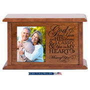 Wooden Memorial Cherry Cremation Frame Urn