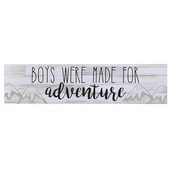 LifeSong Milestones Boys Were Made For Adventure Wall Art Decorative Sign Children's Decor