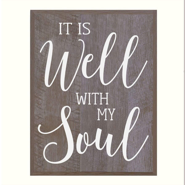 Housewarming Family Wall Hanging Plaque Gift - It Is Well With My Soul