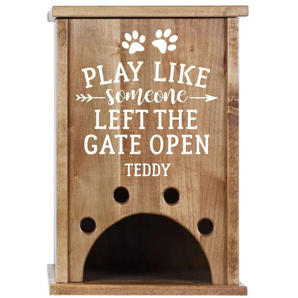 Personalized Pet Toy Box - Play Like Someone Left The Gate Open Cherry