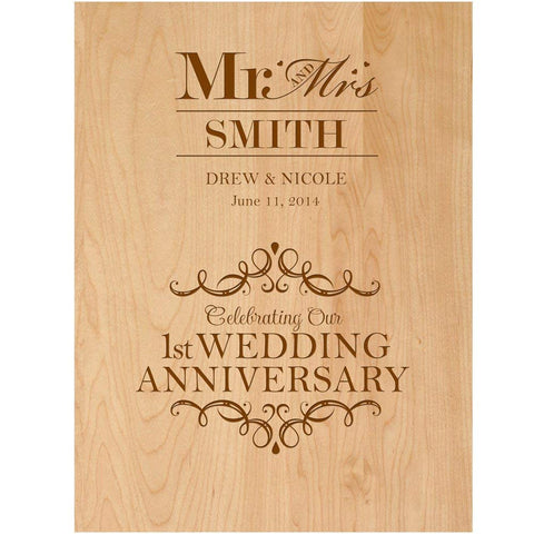 Wedding plaque gift 1st anniversary Wall Plaque wedding First year gift idea one anniversary gift idea for him her