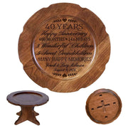 Personalized 40th Anniversary Decorative Plate with Names and Date