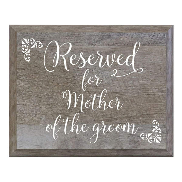 Barn Wood Wedding Party Sign Plaque - Reserved For Mother Of The Groom