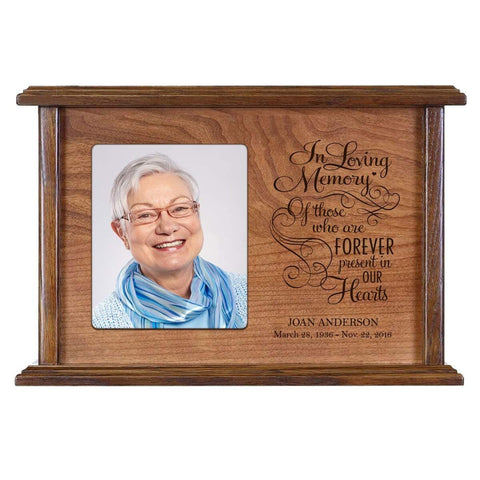 Personalized Memorial Photo Frame Urn Box - In Loving Memory