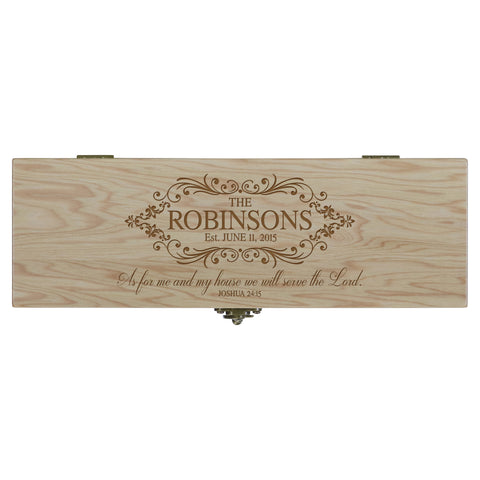 "LifeSong Milestones Personalized Wine Bottle Box with Latch - Everyday Design Home Decoration Special Occasion Gft 14.5"" x 4"" x 4.75"""