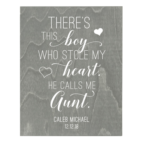 Personalized 8 x 10 Mother's Day Plaque - There's This Boy - Grey