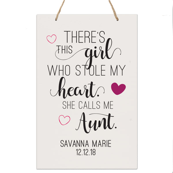 Personalized Mothers Day Gift Wall Hanging Sign - This Girl 8x12