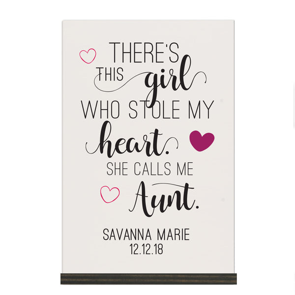 Personalized Mothers Day Sign With Base - This Girl 8x12