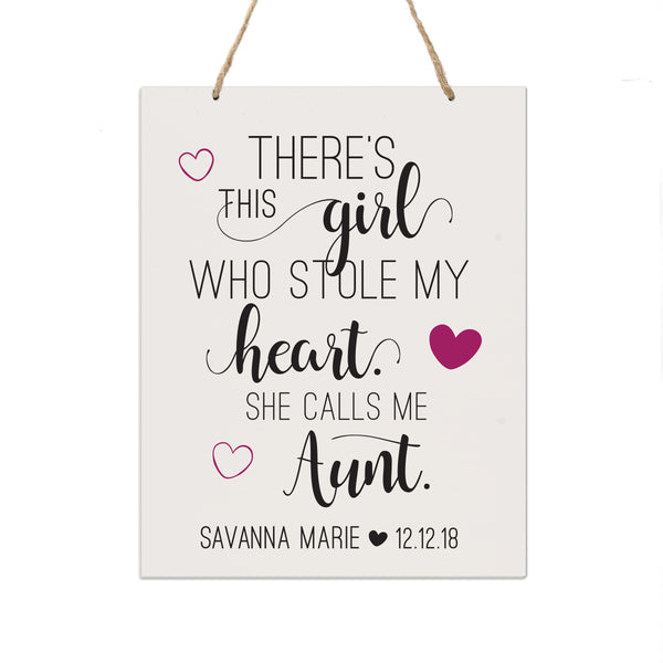 Personalized Mothers Day Gift Wall Hanging Sign - This Girl 12x15