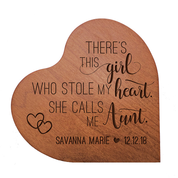 "Personalized Mother's Day Hearts of Love 5"" x 5"" - There's This Girl"