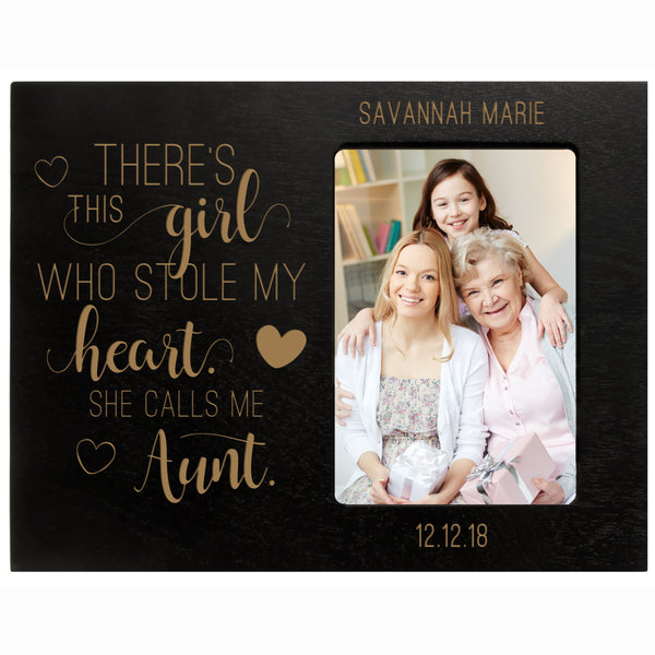 "Personalized Mother's Day Frame 4"" x 6"" Photo This Girl Aunt"