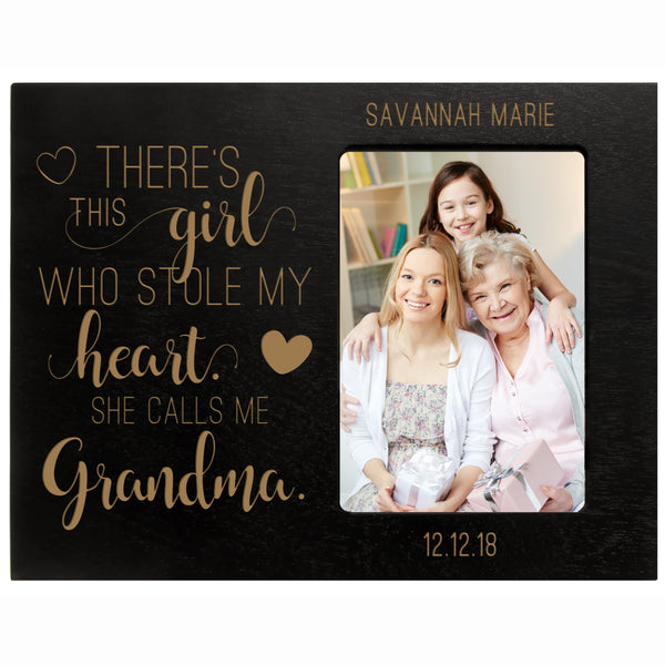 "Personalized Mother's Day Frame 4"" x 6"" Photo This Girl Grandma"