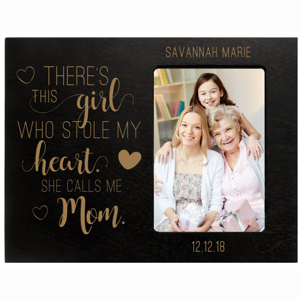 "Personalized Mother's Day Frame 4"" x 6"" Photo There's This Girl Mom"