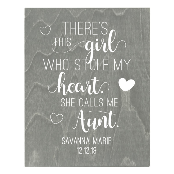 Personalized 8 x 10 Mother's Day Plaque - There's This Girl - Grey