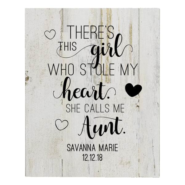 Personalized 8 x 10 Mother's Day Plaque - There's This Girl - White