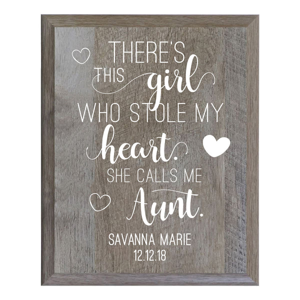 Personalized 8 x 10 Mother's Day Plaque - There's This Girl - Barnwood