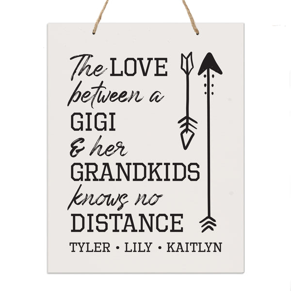 Personalized Mothers Day Gift Wall Hanging Sign - The Love 12x15