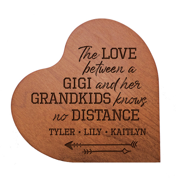 "Personalized Mother's Day Hearts of Love 5"" x 5"" - The Love"
