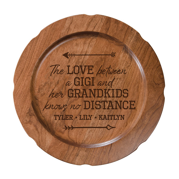 Personalized Mother's Day Cherry Wooden Plates - The Love Gigi