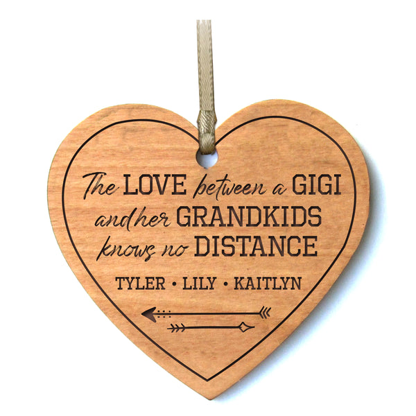 Personalized Mother's Day Heart Ornament Gift - The Love Between