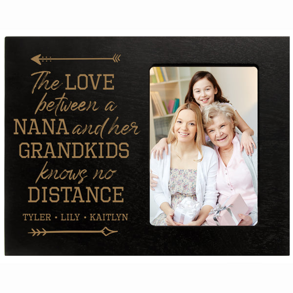 "Personalized Mother's Day Frame Holds 4"" x 6"" Photo The Love Nana Black"