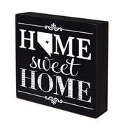 LifeSong Milestones Home State Shadow Box Home Sweet Home Table and Shelf Sitter - Family Established Housewarming Gift - 10x10