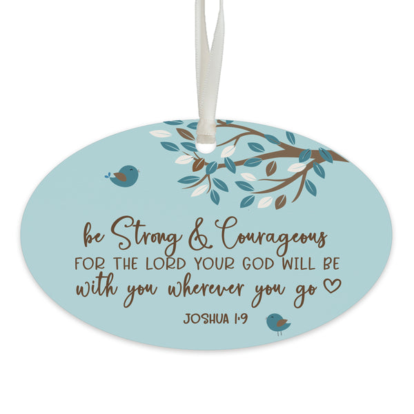 Child Baptism Hanging Ornament Verse Gift for Godson