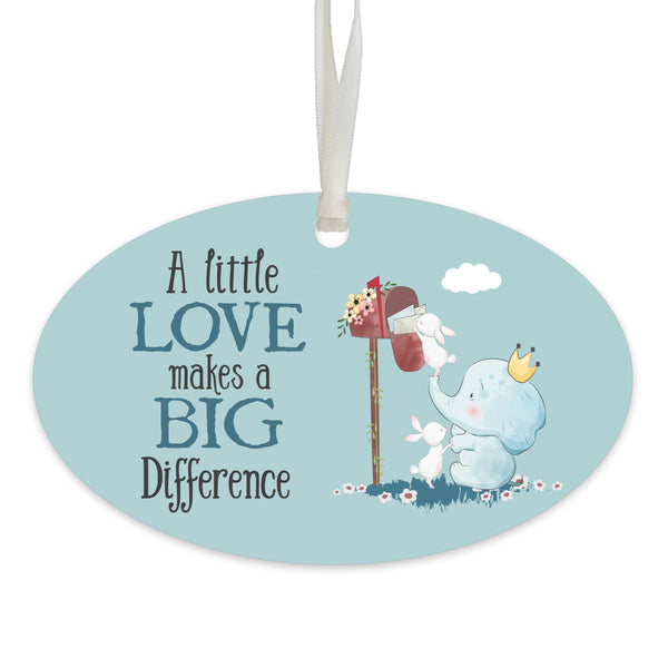 Child Baptism Blue Hanging Ornament Verse Gift for Godson.