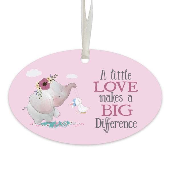 Child Baptism Pink Hanging Ornament Gift for Goddaughter