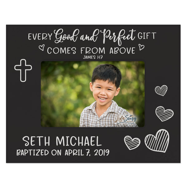 Personalized Baptism Blessing Frame Gift For Child - Good & Perfect