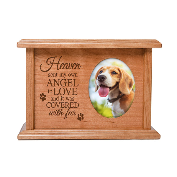 Pet Memorial Cremation Urn Box - Heaven Sent My Own Angel
