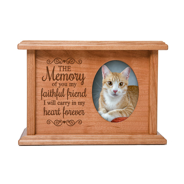 Pet Memorial Cremation Urn Box - The Memory Of You