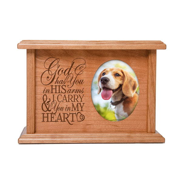 Pet Memorial Cremation Urn Box - God Has You