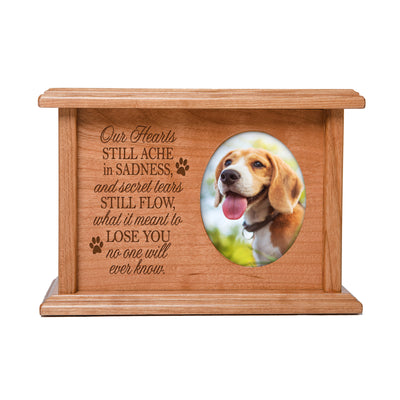 Pet Memorial Cremation Urn Box - Our Hearts Still Ache