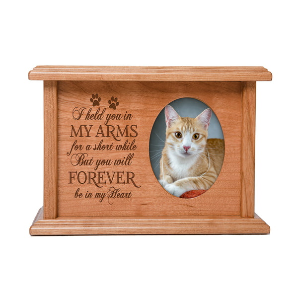 Pet Memorial Cremation Urn Box - I Held You In My Arms