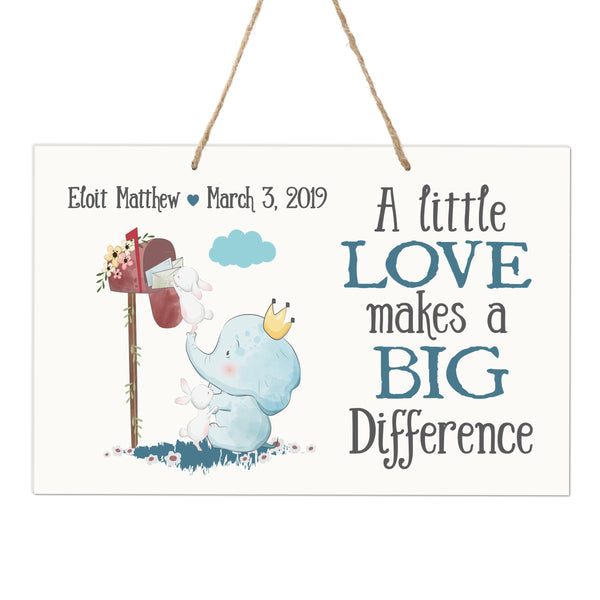 Personalized Wall Decor For Nursery Boys Bedroom Hanging Wall Art