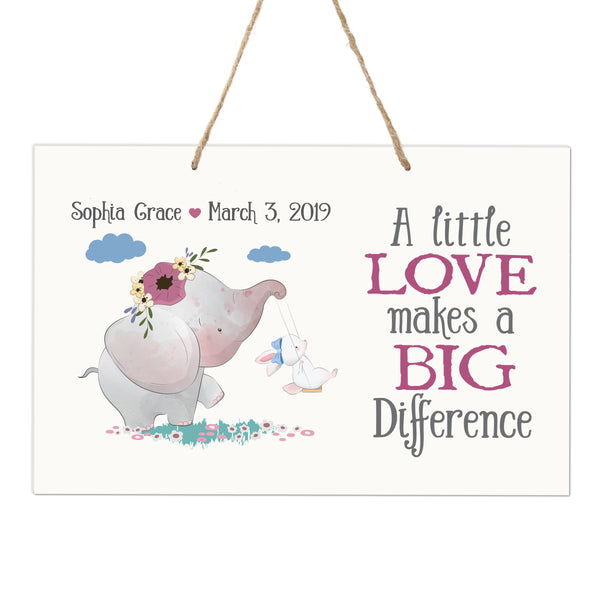 Personalized Wall Decor For Nursery Girls Bedroom Hanging Wall Art
