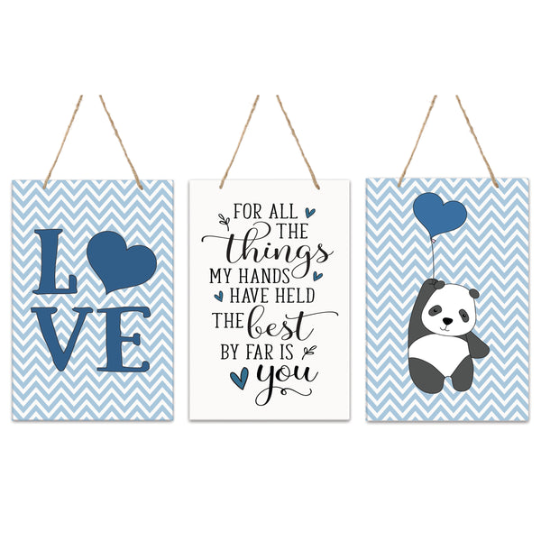 3 Piece Decoration Wall Hanging Sign Set Gift For Boys