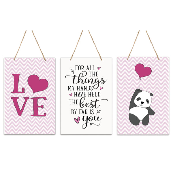 3 Piece Decoration Wall Hanging Sign Set Gift For Girls