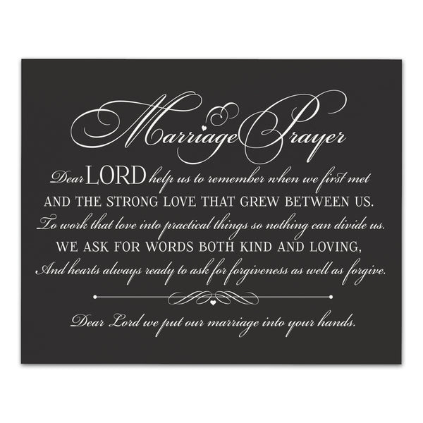 "LifeSong Milestones Marriage Prayer Wall Plaques for Couples, Parents, Husband, Wife Anniversary Wedding Vow Wall Decor Sign Gifts for Couples - 12"" x 15"""