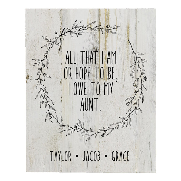 Personalized 8 x 10 Mother's Day Plaque - All That I Am - White