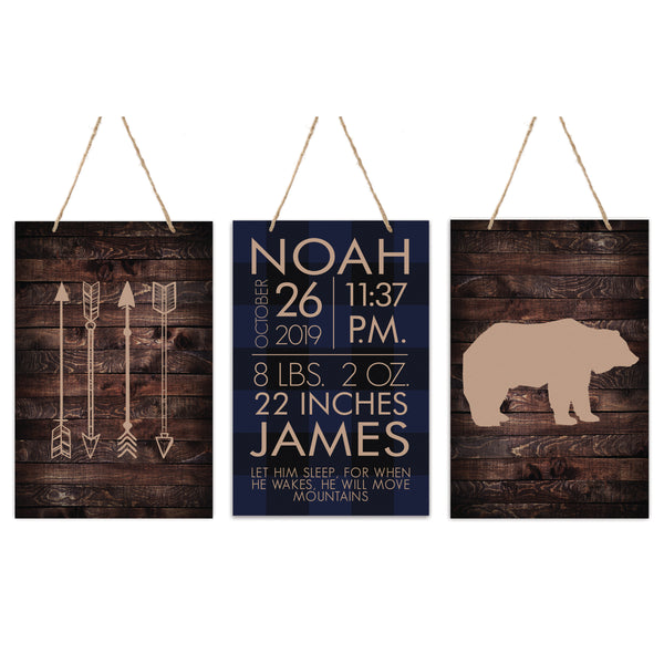 3 Piece Decoration Wall Hanging Sign Set Gift - Arrows