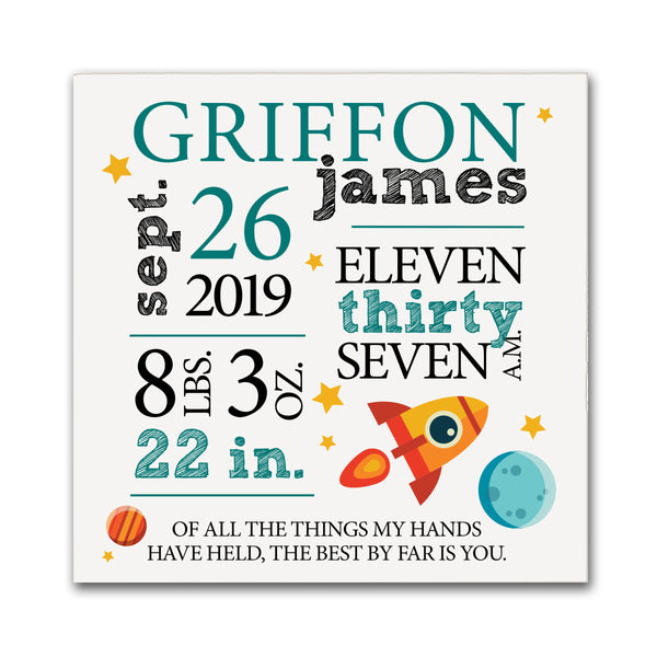 new baby babies gift new newborn dad mom parent parents grandparents grandparent nana papa mimi gigi arrival birthday personalized shower perfect newborn boy girl registry twin twins daughters son Christmas statistics stats name arrival pregnancy new parents