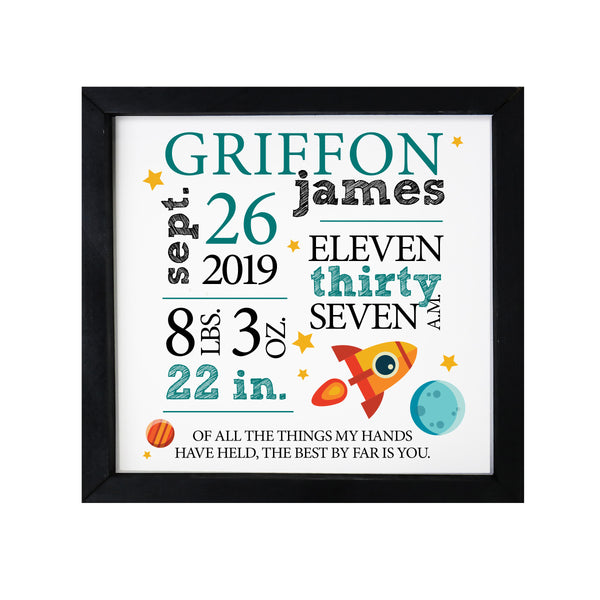 LifeSong Milestones Personalized Nursery Wall Decor for Boys And Girls Nursery or Bedroom Framed Inspirational Shadow Boxes