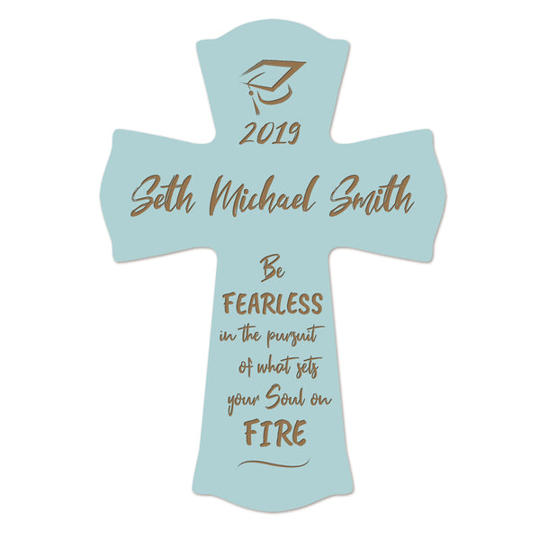 Personalized 8x11 Graduation Cross Gift For Graduate - Be Fearless