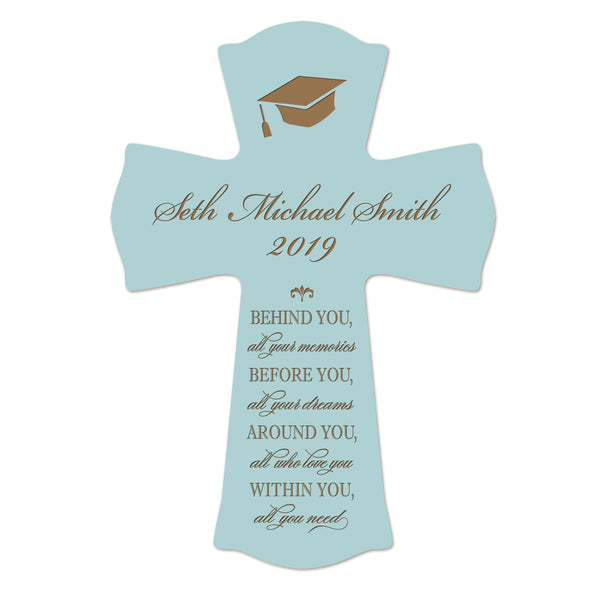 Personalized 8x11 Graduation Cross Gift For Graduate - Behind You